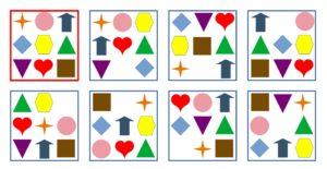 Spielend lernen Sudoku für Kinder Symbole ergänzen