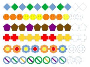 Spielend lernen logisch denken Formen und Farben ergänzen