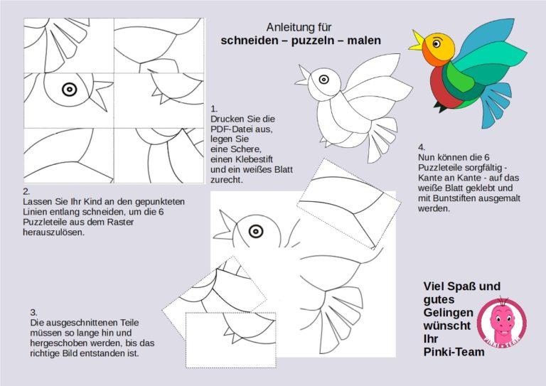 ausschneiden puzzeln malen spielend lernen Kindergarten Vorschule