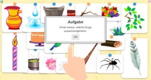 Welche Gegenstände gehören zusammen - spielend lernen Kindergarten Vorschule