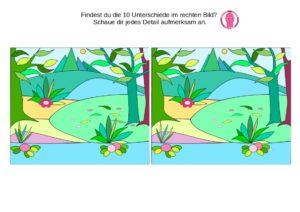 Bilderrätsel Finde die Unterschiede - spielend lernen - Kindergarten und Vorschule